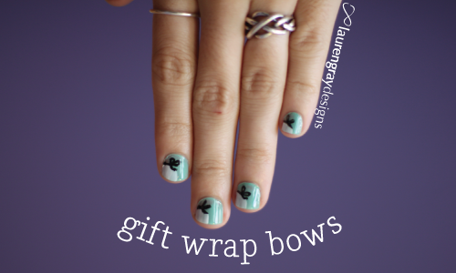Gift Wrap Bows, a design I stumbled upon (hard).