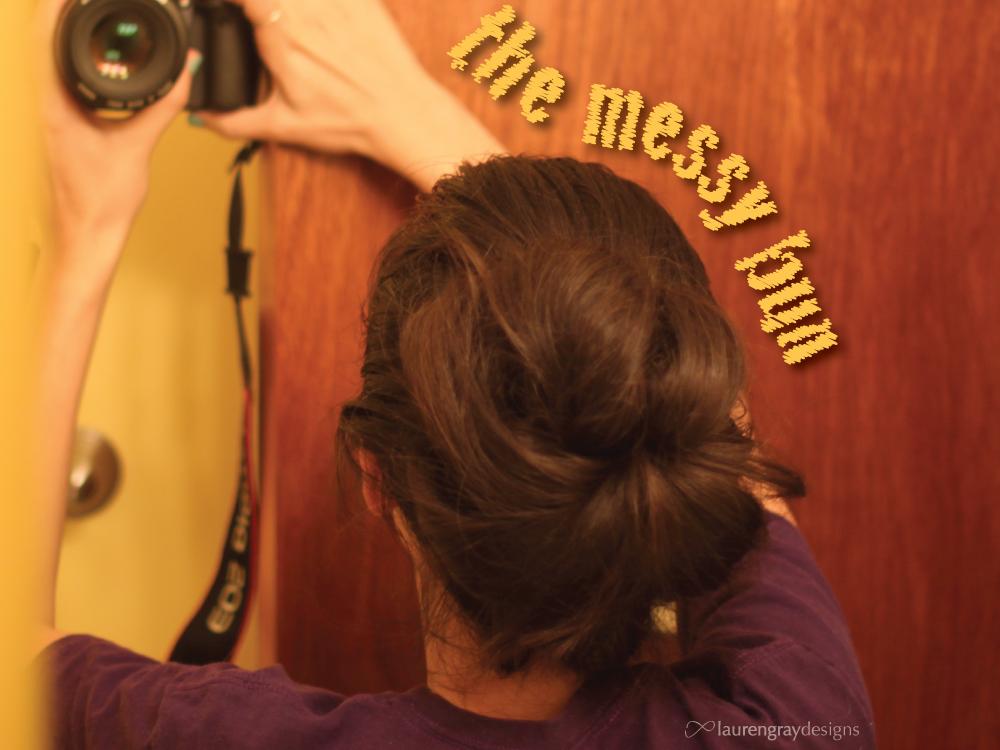The Messy Hair Bun