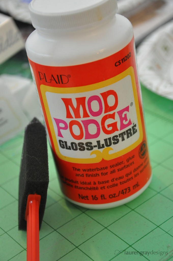 This is what Mod Podge looks like!