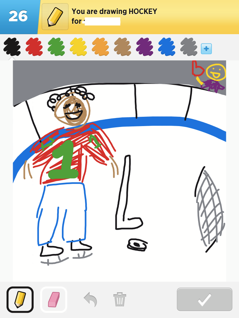 My Hockey Drawing