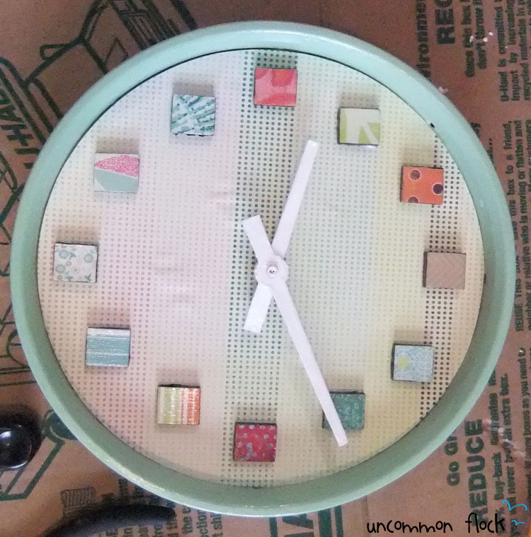 Easily turn a $10 clock from Walmart into beautiful wall decor!