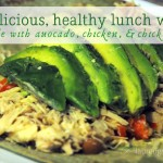 Avocado, Chicken, and Chick Pea Lunch Wrap