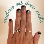 Modern Art Deco Nails