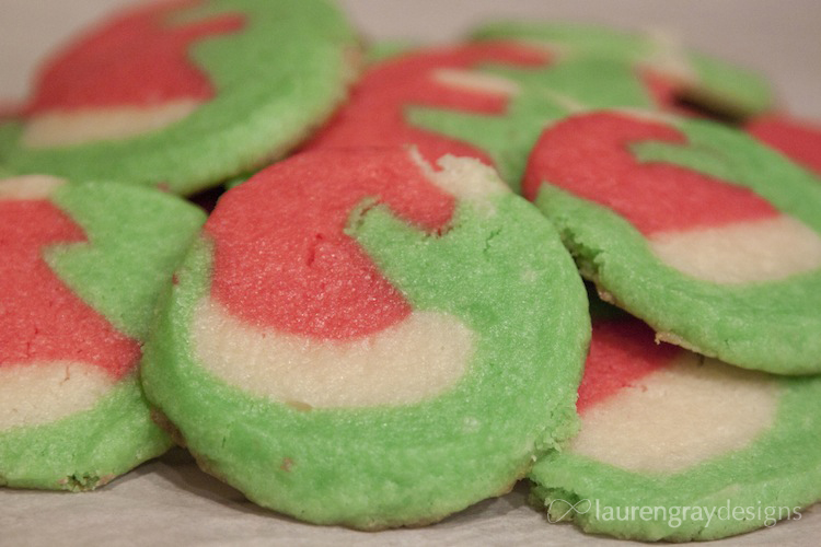 Santa Hat Christmas Cookies