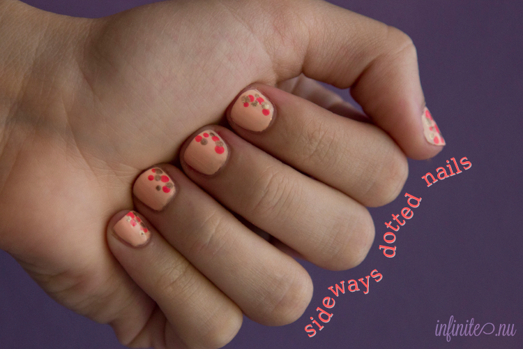 Sideways Dotted Nails