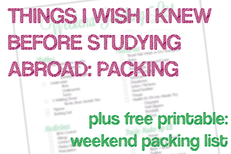 (TIWIKBSA) Week 11: Packing + FREE PRINTABLE