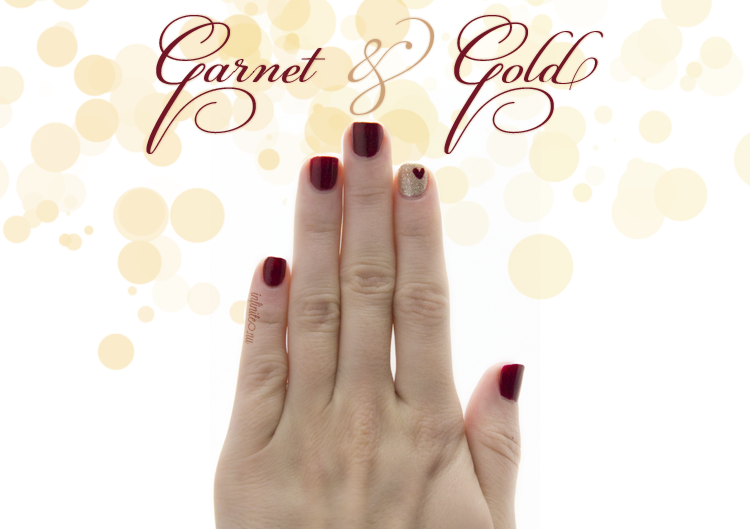 FSU Game Day Nails // Garnet & Gold for Valentine's Day