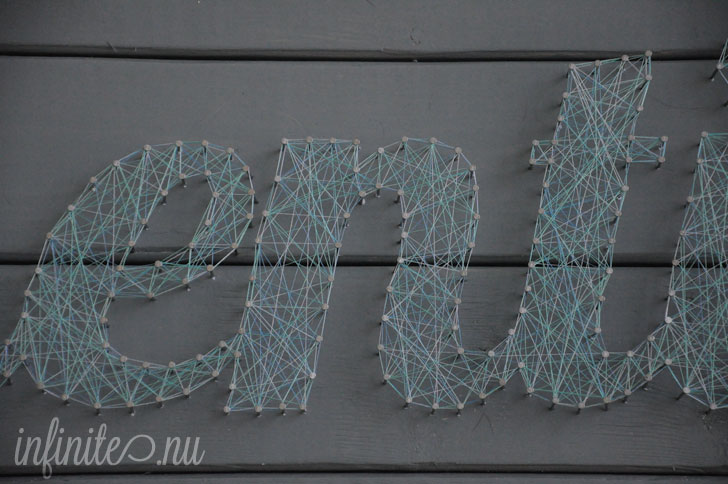 Authenticity: Threaded String Letter Art | infinite.nu