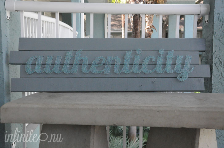 String Letter Art: Authenticity
