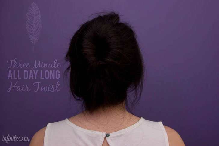 3 Minute All-Day Hair Twist