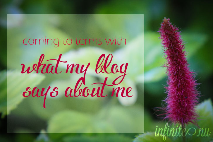 Coming to terms with what my blog says about me