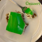 Lime Jello Pretzel Dessert for St. Patrick's Day!