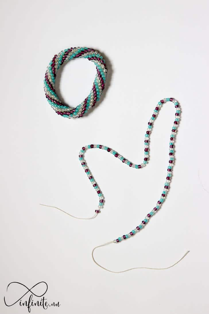 Bead Crochet: Double Spiral Pattern | infinite.nu