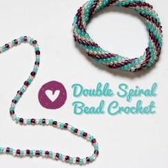 Bead Crochet: Double Spiral Pattern | infinite.nu