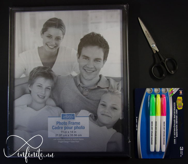 $3 DIY Picture Frame Calendar | infinite.nu