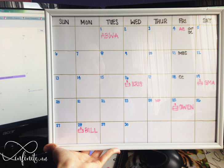 $3 DIY Picture Frame Calendar