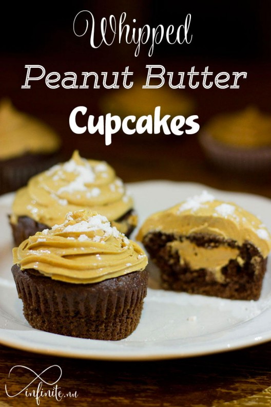 Whipped Peanut Butter Cupcakes