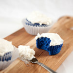 Doctor Who Blue Velvet Cupcakes