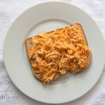 Open Faced Buffalo Chicken Sandwich