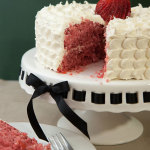 Petal Iced Fresh Strawberry Cake